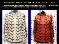 Womens Leather Leaf Jackets